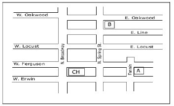 Juror Parking Map